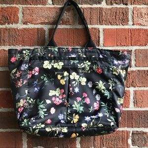 Lesport Sac Floral Pattern Tote Bag Large Zip